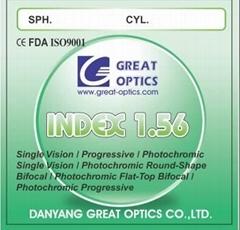 1.56 Single Vision Optical Lenses