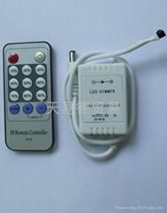 New Adjustable LED Light Remote Dimmer Brightness Controller DC 12V 6A