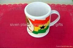 customized promotion pvc mug cup
