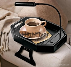Sofa Tray Table with Light As Seen On TV Clip-On Tray with Light