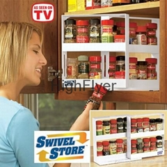 Swivel Store Space Saving Cabinet