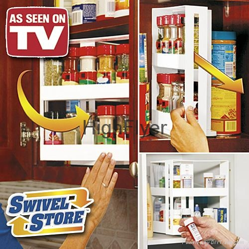 Swivel Store Space Saving Cabinet Organizer As Seen On TV Spice Rack 2