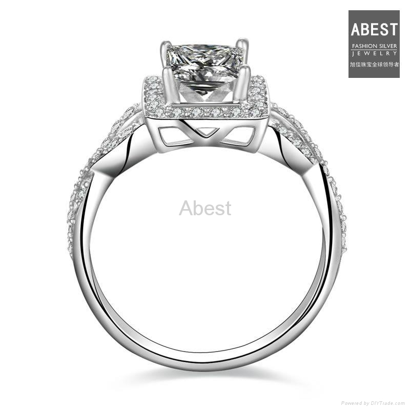 2017 Hot Silver Engagement Ring