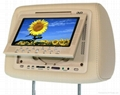 "7"" headrest with dvd player built-in game, IR transmitter sd usb"