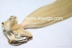 Natural clip hair extension