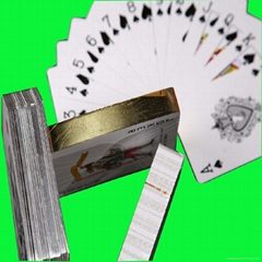 Gold/Si  er edge playing cards