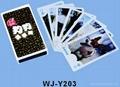 卡通图案广告扑克牌