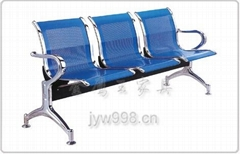 三人位电镀排椅,候诊椅,钢制等候椅JYW-0068