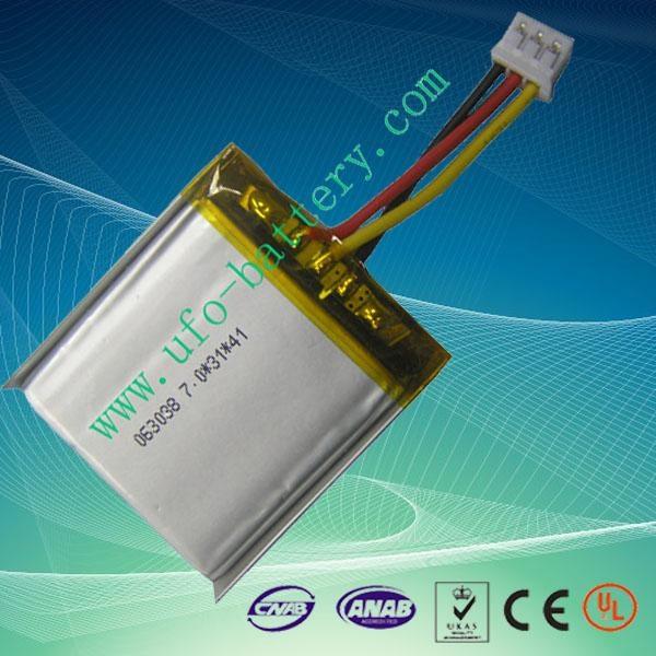 3.6v 700mAh Soft Pack Battery for Bluetooth/MP3 1