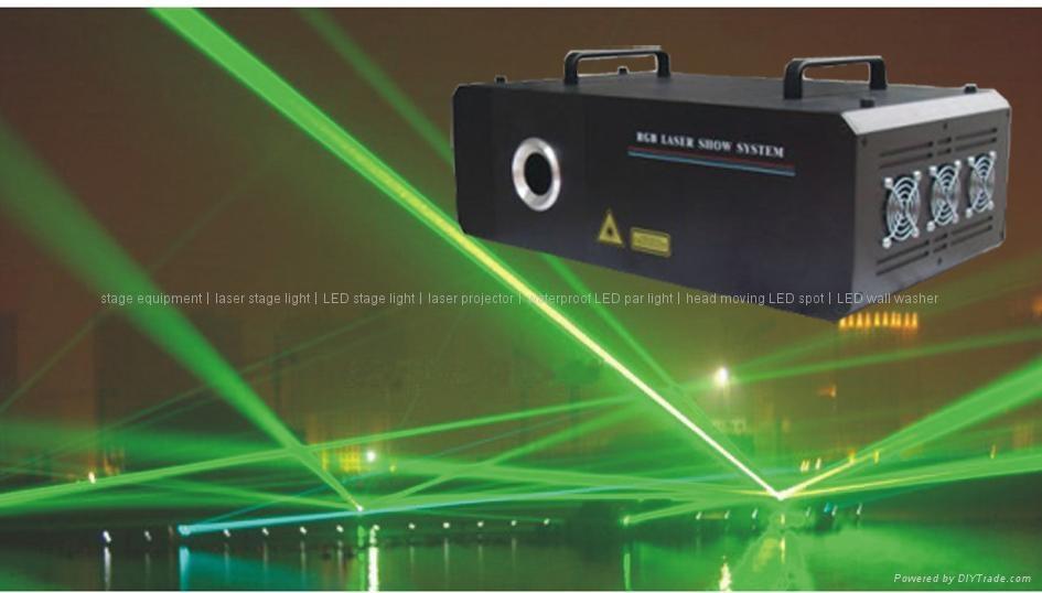 i Wind 1500 Green cartoon Laser stage light ILDA interface