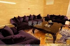 歐式新古典風格布藝沙發