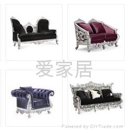 欧式新古典风格布艺沙发 2