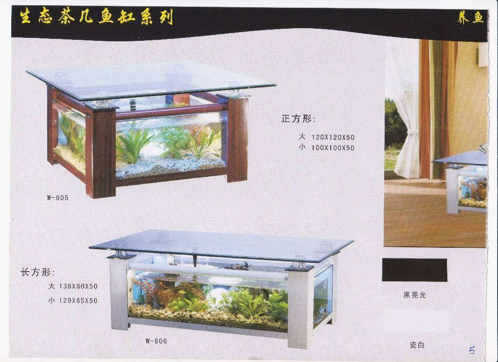 生态茶几鱼缸 1
