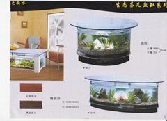 生态茶几鱼缸(圆形)