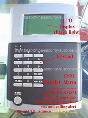 10 Wired Wireless Burglar Alarm S3 GSM SMS Dual Band LCD KP