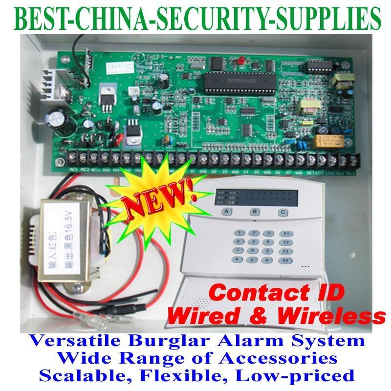 Wired Wireless Burglar Alarm Control Panel 8+16 Zones = DSC - LM0816 ...