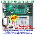 Wired Wireless Burglar Alarm Control