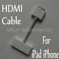 Digital AV HDMI Adapter to HDTV for Apple iPad 3 2 iPhone 4S 4G iPod Touch New