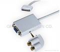 Dock Connector to VGA Adapter Audio Output For iPAD iphone ipod