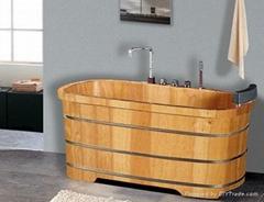 泰国进口橡木实木泡澡浴桶