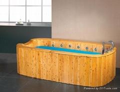 香柏木实木冲浪按摩泡澡浴桶