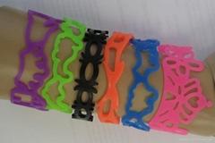 Hollow Silicone Wristband Tattoo Bracelets