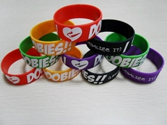 BRACELET With Saying Silicone Rubber Wristband I LOVE DOOBIES