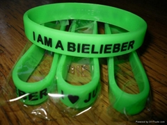 100% Silicone Wristbands Bracelets with debossed logo