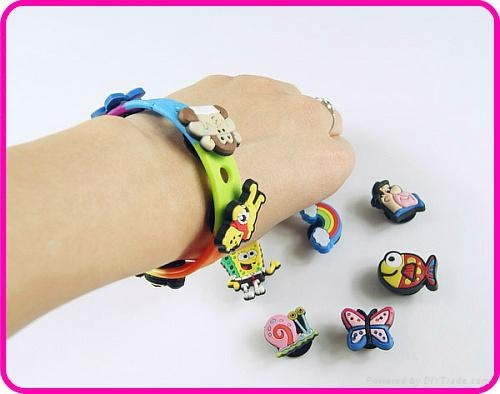 Personalized Charms Silicone Bracelets Wristbands for ...