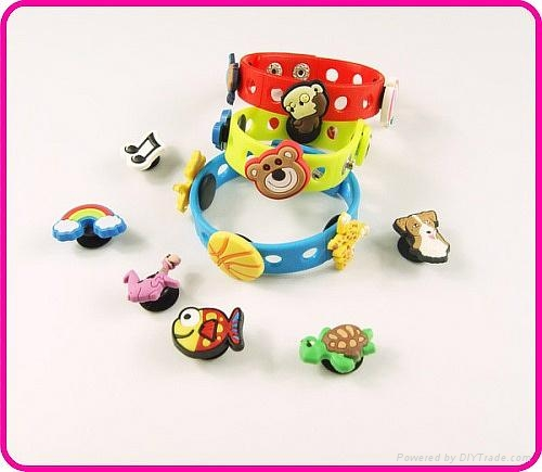 Personalized Charms Silicone Bracelets Wristbands For Children 3