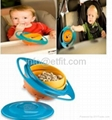 universal gyro bowl for baby self-feeding