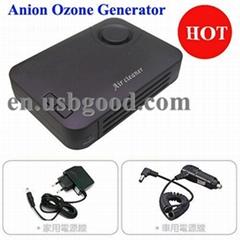 anion ozone generator with TiO2