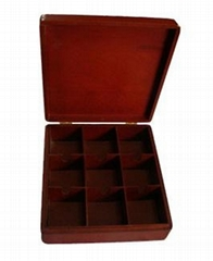 Wooden tea box for tea bags