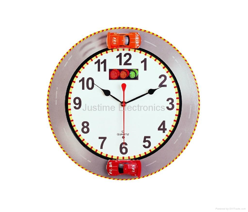 Racing Car Wall Clock Jt2702 Justime China Manufacturer
