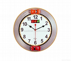 RACING CAR WALL CLOCK