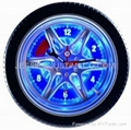 motorcycle tyre car tyre wall clock