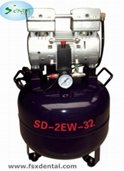 One for two oil-free silent air compressors