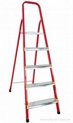 五阶彩色铝合金家用梯