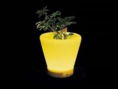 LED发光圆口花盆