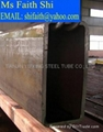 rectangular pipe used in mechanism and