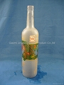 clear glass bottle for wine or oil
