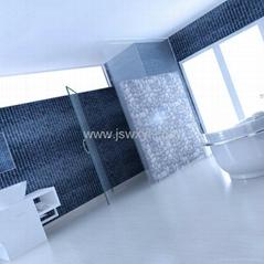 100% waterproof bathroom flooring, no distortion