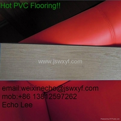 pvc flooring with vivid wood colors