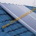 Flat panel solar collector