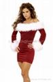 Velvet Xmas Cosplay Santa Costume Belt