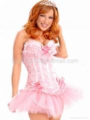 Sexy corset Mini skirt