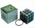 key chain magic cube rubiks puzzle cube promotion gift 1