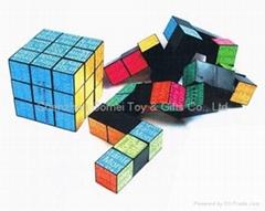 snake shape magic cube puzzle cube rubik's promotion gifts