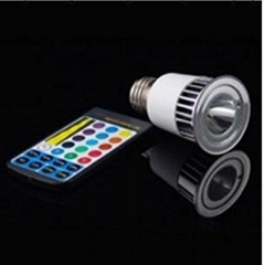 led lamp,5W E27 ,Remote Control LED Bulb Light 16 Color Changing 110V~240V