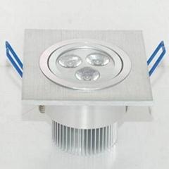 厂家直销LED高亮度天花灯/展柜灯3W!!!节能环保~~~